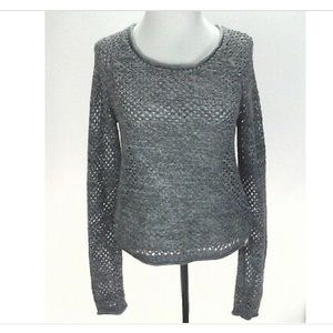 ROXY long sleeve open knit summer sweater
